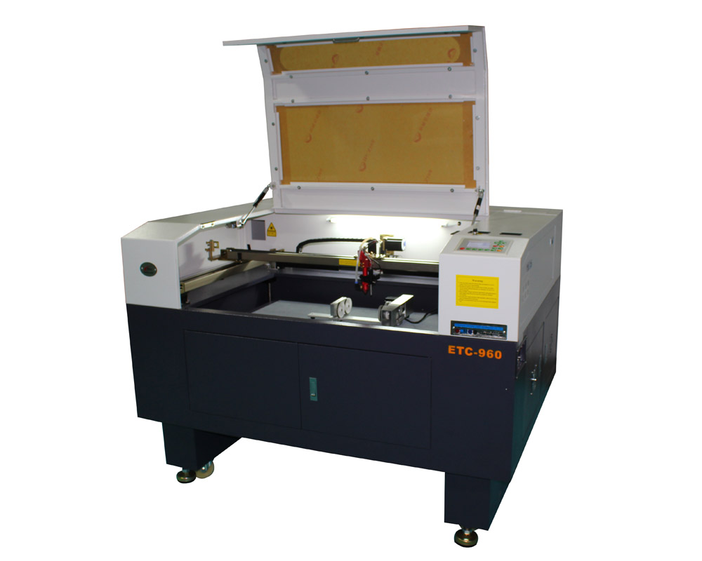 ETC-960L model motorized up down table laser cutter